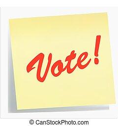 Nota de recordatorio - ¡Vota!
