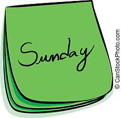 nota, domingo