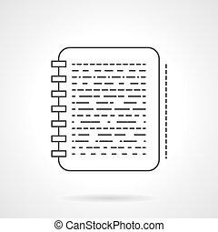 Nota icono vector de diseño plano