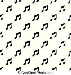 Nota musical vector sin costura