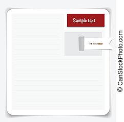 Nota papel. Vector EPS10