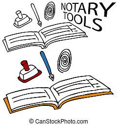 notary, herramientas, servicio