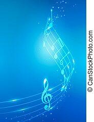 Notas de música abstractas vector de fondo