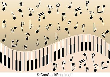 Notas de música de piano