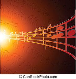 Notas de música.