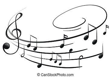notas, musical, g-clef
