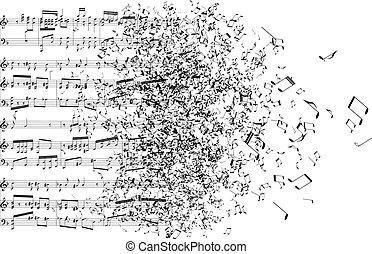 Notas musicales bailando