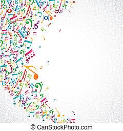 Notas musicales de diseño aislado
