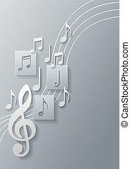 Notas musicales de fondo
