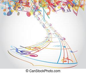 Notas musicales de Multicolour