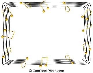 Notas musicales fotogramas 3d