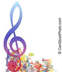 Notas musicales multicolores
