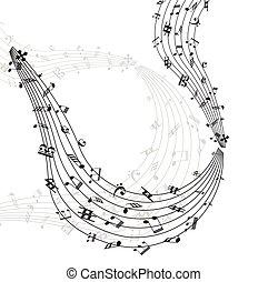 Notas musicales remolino