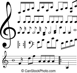 notas musicales, signs.