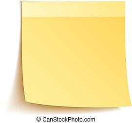 Notas pegajosas en blanco