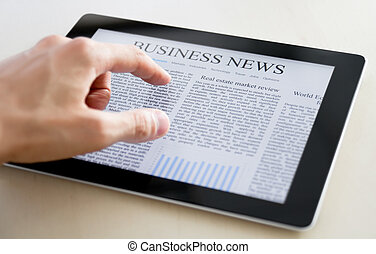 Noticias de negocios sobre PC de tableta