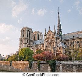 Notre Lady de Paris en primavera