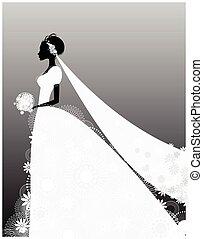 Novia con vestido blanco