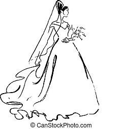 novia, dibujo
