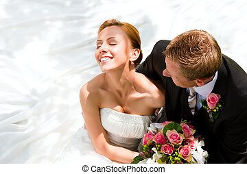 novia, pareja, novio, -, boda