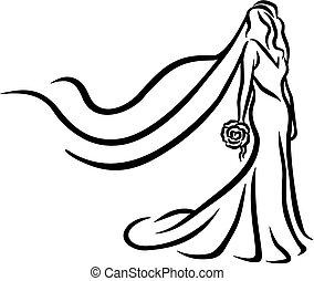 novia, resumen, caligraphy