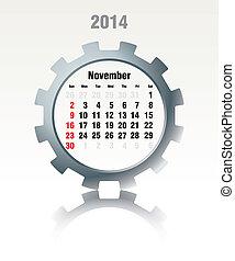 Noviembre 2014, calendario