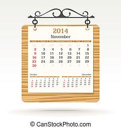 Noviembre de 2014 - calendario
