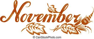 Noviembre, el nombre del mes