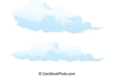 Nube aislada en blanco.