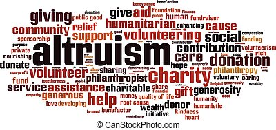 nube, altruism, palabra