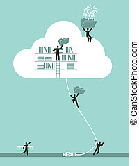 Nube computando concepto de negocios