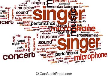 Nube de palabra cantante
