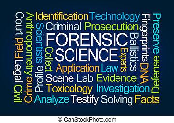 Nube de palabra científica forense