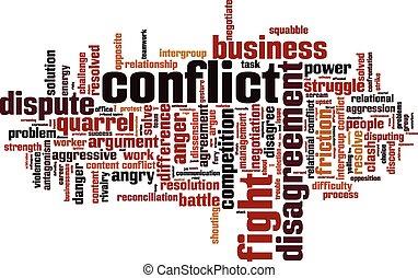 Nube de palabra conflictiva