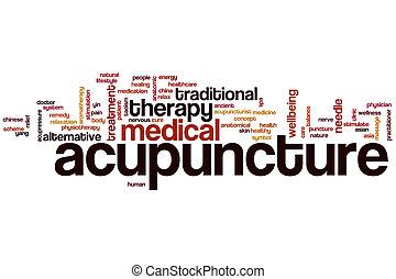 Nube de palabra de acupuntura
