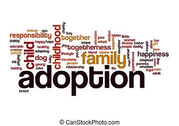 Nube de palabra de adopción