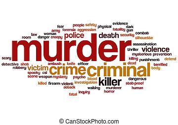 Nube de palabra de asesinato