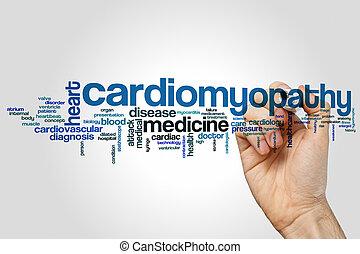 Nube de palabra de cardiomiopatía