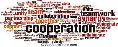 Nube de palabra de cooperación