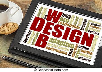 Nube de palabra de diseño web