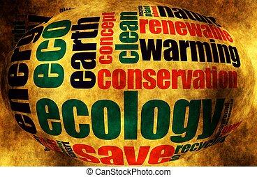 Nube de palabra de ecología