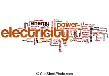 Nube de palabra de electricidad