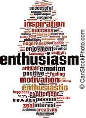 Nube de palabra de entusiasmo