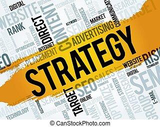 Nube de palabra de estrategia