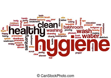 Nube de palabra de higiene