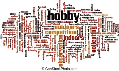 Nube de palabra de Hobby