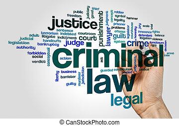 Nube de palabra de ley criminal