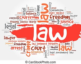 Nube de palabra de ley