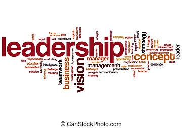 Nube de palabra de liderazgo
