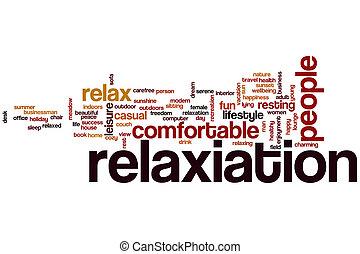 Nube de palabra de relajación